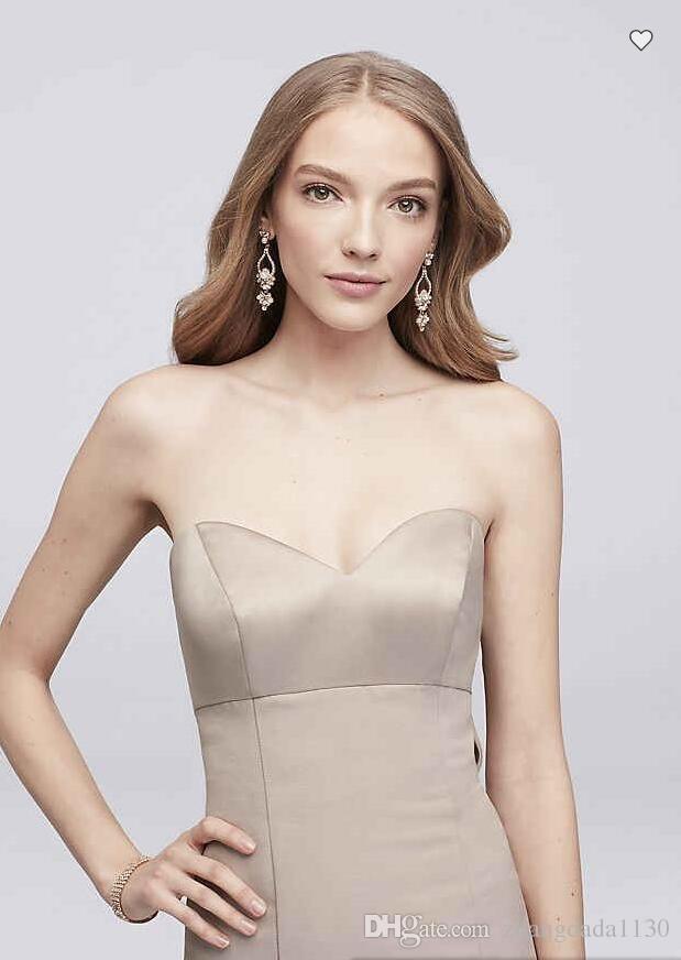Frete grátis 2018 nova chegada 4XLOC290033 Strapless sereia falsa dama vestido de dama de honra com arco Custom Made vestido de dama de honra