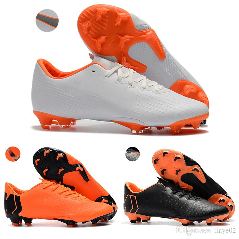 02a848a433ed Kids Low Ankle Football Boots Youth Boys Mercurial Vapor XII PRO FG ...