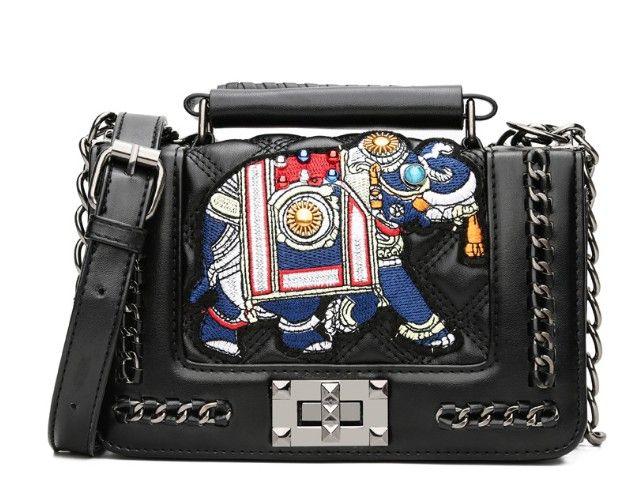 New Pattern Leisure Fashion Handbag Hardware Butterfly PU Women S Elephant  Bags Small Mini Shoulder Bags Totes Handbags. Italian Leather Handbags  Luxury ... f1b6cbf1808d