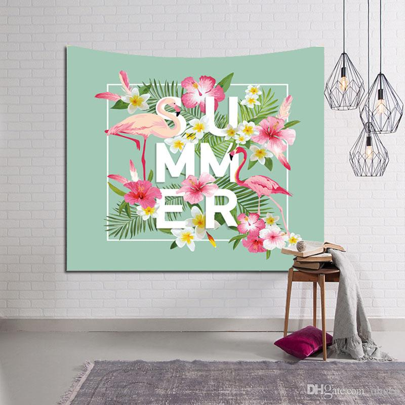 Summer Home Decor Wall Hanging Tapestry Flamingos Animals Decoration