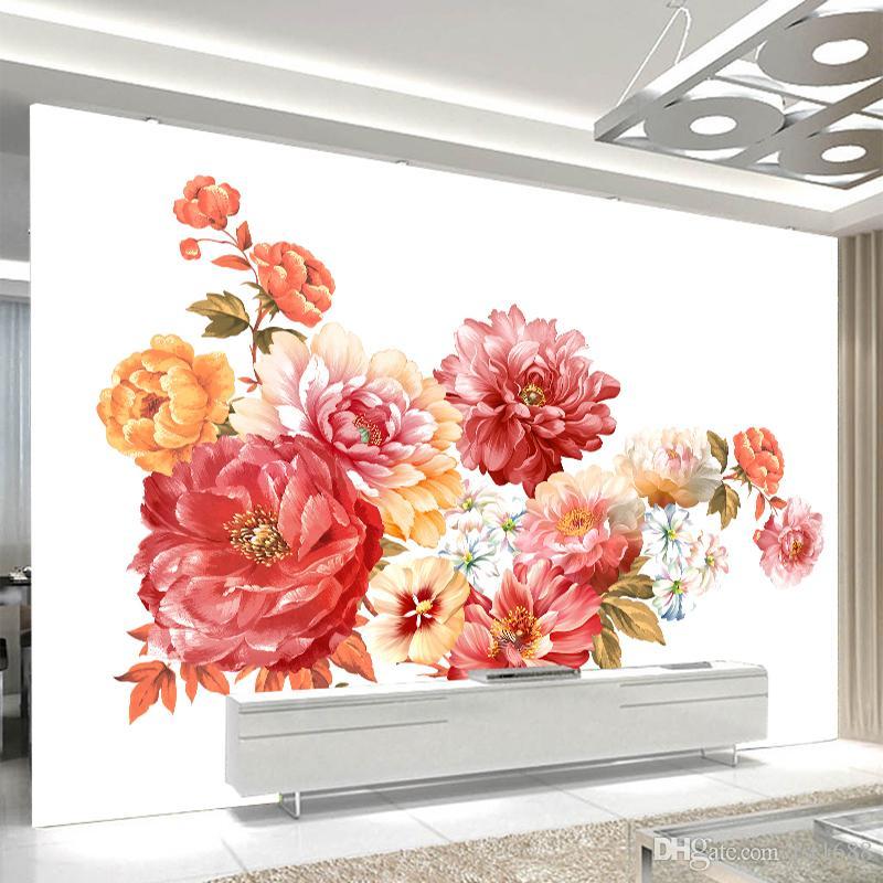 Acheter Date Américain Style Vintage Rose Beau Papier Peint Floral ...