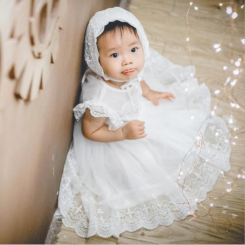 super populaire 4311d b7b63 Bébé fille robe baptême robe pour fille nourrisson 1-2 ans fête d  anniversaire mariage baptême bébé vêtements pour bébés 2018