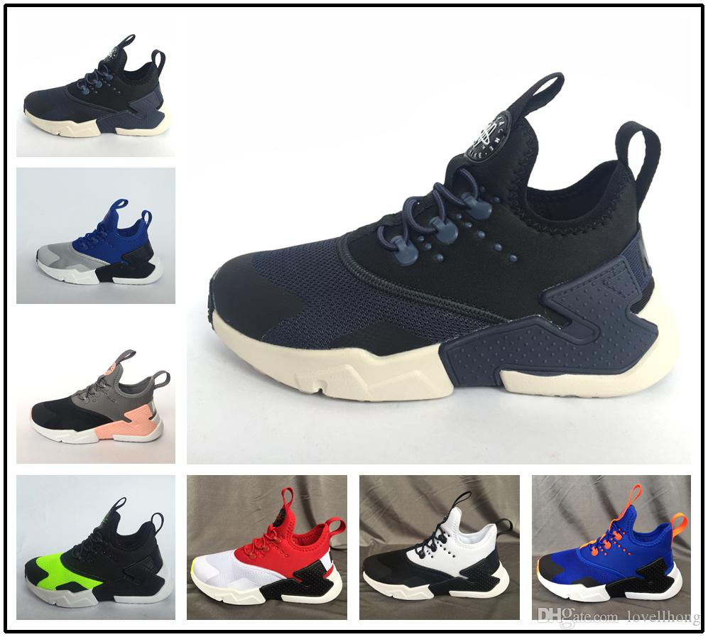 9c84013d062a 2018 Children Air Huarache IV 4.0 Ultra Running Shoes Huraches Boys Girls  Shoes Baby Kids Triple Huaraches Sneakers Best Kids Shoes Kids Tennis Shoes  With ...