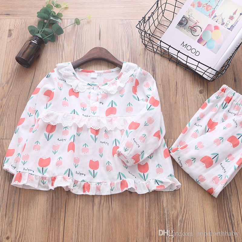 2bc45e05fd3b Children S Baby Cute Pajamas 2018 Autumn Fashion Cotton Girl Casual ...