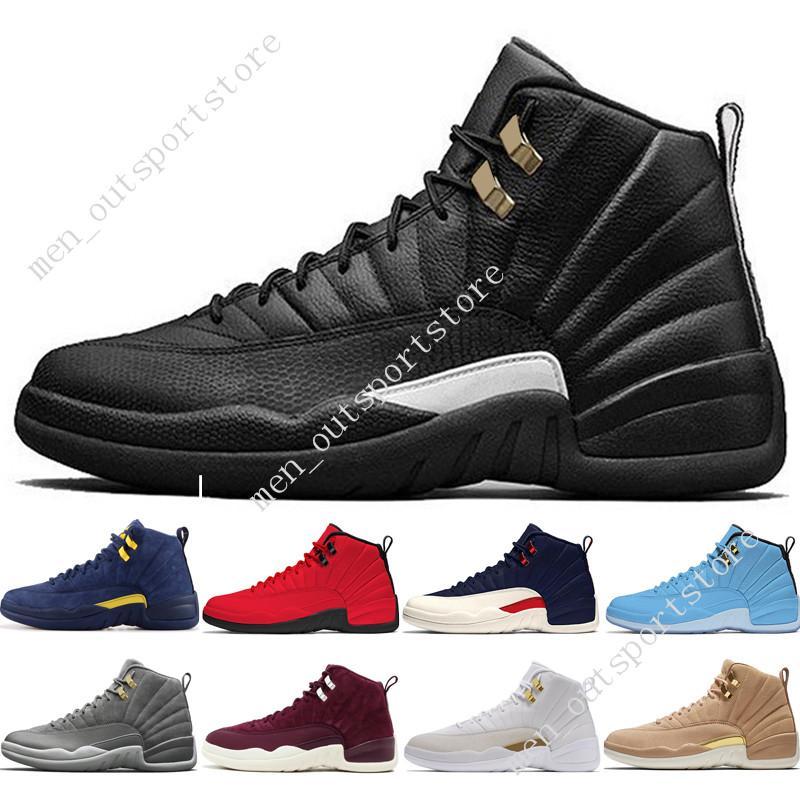 1bde717b255 12 12s Men Basketball Shoes Michigan Bulls College Navy UNC NYC ...