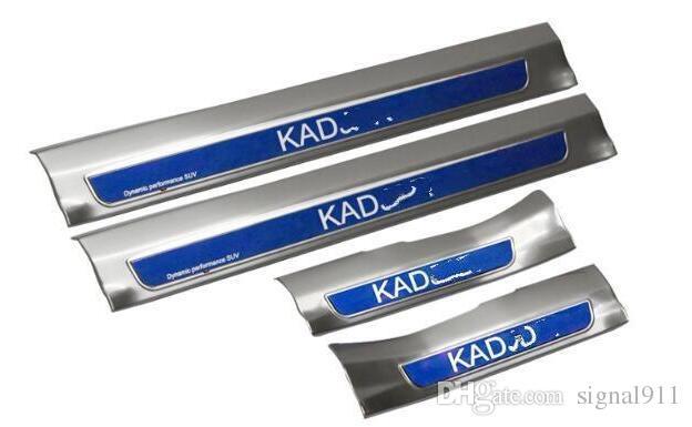 Reposapiés de acero inoxidable de alta calidad interno + externo, placa de protección umbral para Renault Kadjar 2015