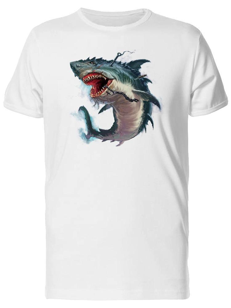 Satın Al Köpekbalığı Ağzı Canavar Boyama Erkek Tee Resim