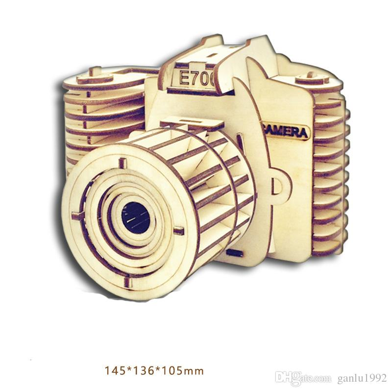 3D Building Blocks Wooden Camera Design Handmade Training Educational Toys Creative Children Puzzle Assemble Toy Gifts New Arrive 8 63mz2 Z