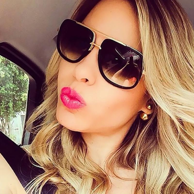 cf10146e69ae4 Compre Design De Marca De Moda Óculos De Sol Para Mulheres Homens Óculos De  Sol Unisex Retro Gêmeo Vigas De Condução Feminino Óculos De Sol Oculos De  Sol ...