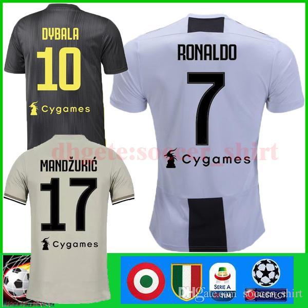 92304ab2fbb 2019 RONALDO JUVENTUS 18 19 DYBALA MARCHISIO HIGUAIN MANDZUKIC Soccer  Jerseys 2019 PJANIC CHIELLINI Bernardeschi Matuidi Football Shirts S XXL  From ...