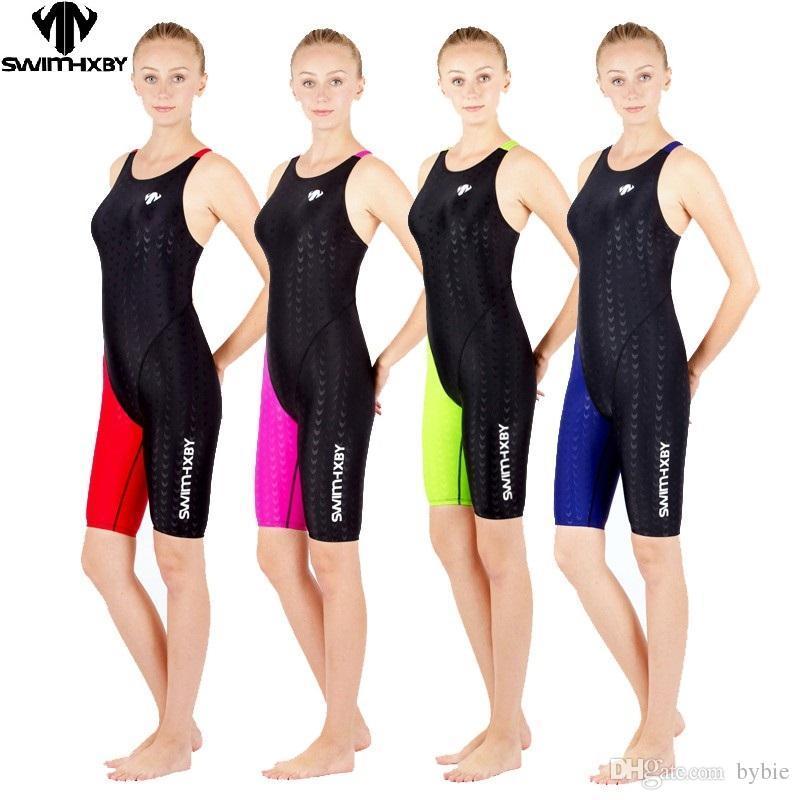 2019 Hxby Swimwear Girls Racing Swimsuits Sharkskin Professional