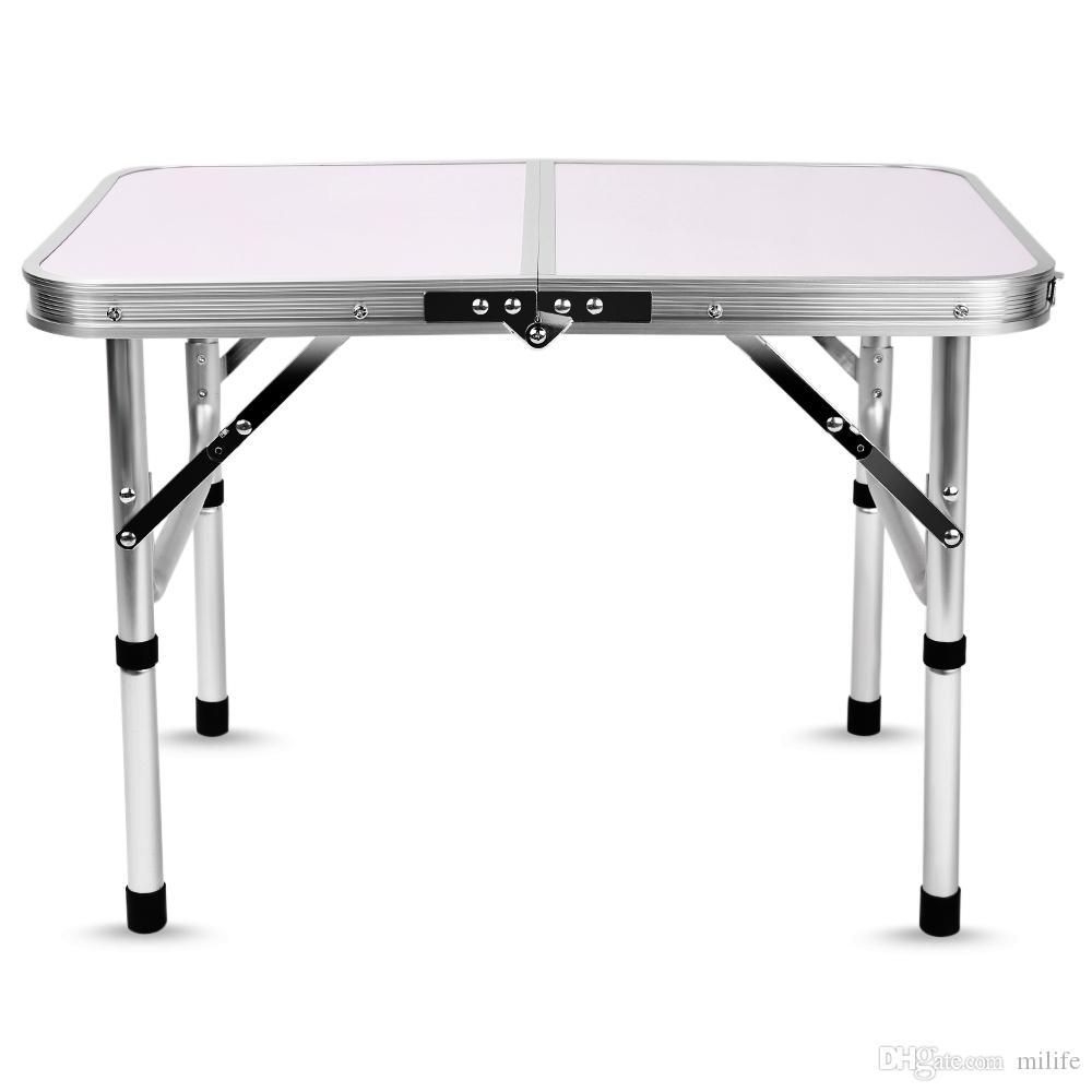 Bbq Table Bureau Hauteur Proof60x40 Portable Aluminium Simple Rain Réglable Ordinateur Lit Extérieur Léger 5x24 D Tables Pliant Camping Qrdhst