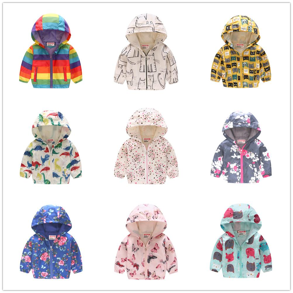 Colorful Baby Boys Hoodies Jackets Children Coats Hooded Girls Clothes Cartoon Outfits Kids Outerwear Jersey Top Jumper 2-7 Year