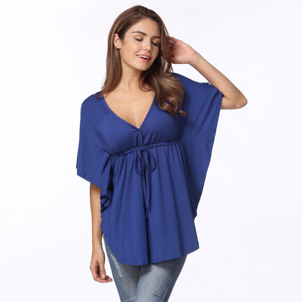 76ac6447308 Womens Plus Size Fashion 5XL T-shirt Sexy Deep V Neck Harajuku T ...