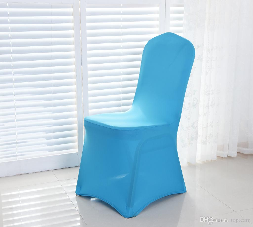 Wolesale hotel hotel chair cover wedding wedding with thick white elastic high-end banquet chair cover