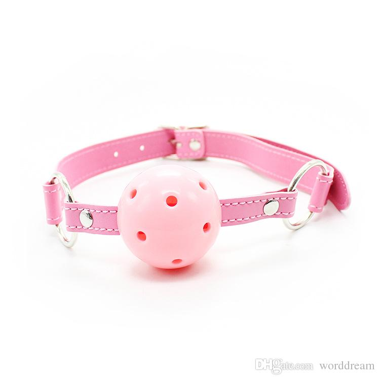 Leather Wrist Ankle Cuffs Mouth Plug Ball Gag Whip Collar Eye Mask Bondage Slave In Adult Games Fetish Sex Toys For Women - HT01