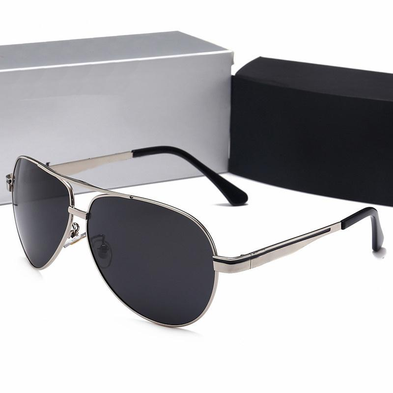 561a068926 Compre Gafas De Sol De Hombre De Diseñador De Marca De Lujo Con Caja Gafas  De Sol De Marco De Metal De Moda Hombres Gafas De Sol De Viaje Polarizadas  Con ...