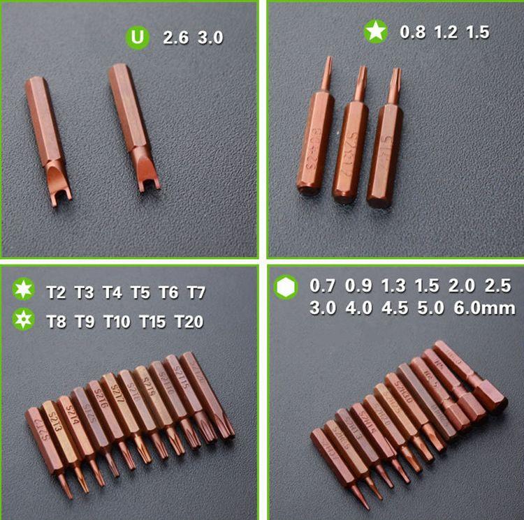 60 في 1 المغناطيسي مفك مجموعة s2 سبائك الصلب الدقة مفك مجموعة متعددة الوظائف إصلاح الهاتف المحمول تفكيك أداة شحن مجاني