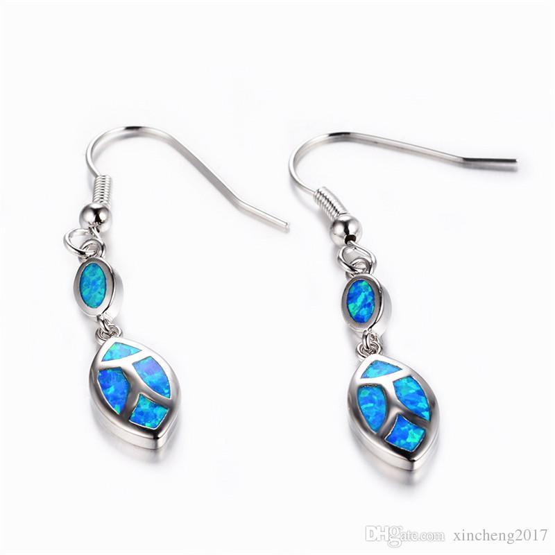 0089034cf 2019 Blue Opal Earrings Female Long Drop Earrings 925 Sterling Silver  Filled Earrings For Women Fashion Jewelry From Xincheng2017, $5.23 |  DHgate.Com