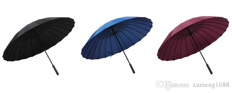 Large Size Classic Windproof Golf Umbrella Parasol Stick Umbrella with 24 Ribs for Men Women, Durable and Strong