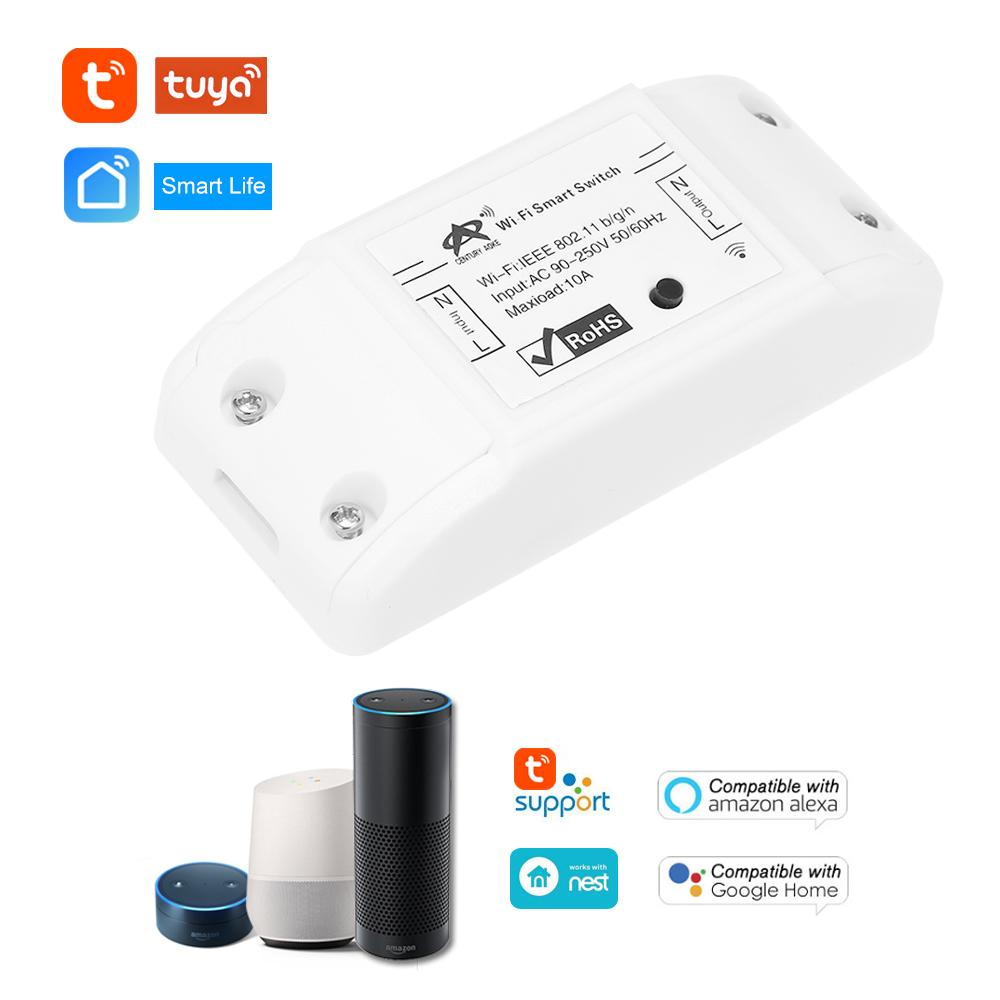 Wifi Switch 10a 2200w Wireless Remote Diy Relay Module For Android Os Alexa Google Home Smart Automation Controls Intelligent House