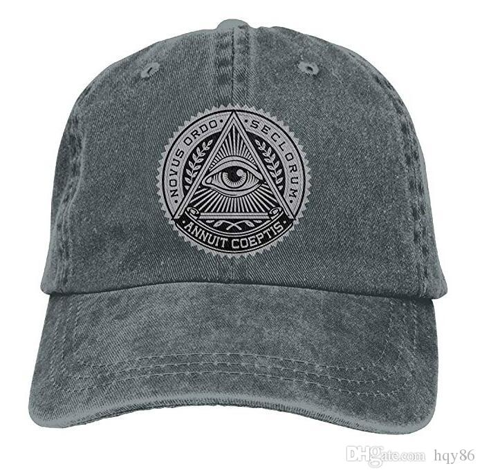 98ec8585c46 Illuminati Adult Cowboy Hat Baseball Cap Adjustable Athletic Custom Printed  New Hat for Men And Women Hat Cap Baseball Cap Online with  14.91 Piece on  ...