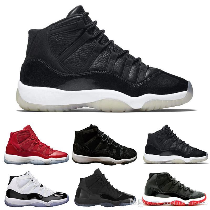 super popular a0823 f84d4 Acheter Nike Air Jordan 11 Retro Space Jam 2018 11 Chaussures De Basketball  Pour Femmes Hommes Basse Métallisée Or Cérémonie De Clôture Marine Gomme  Varsity ...