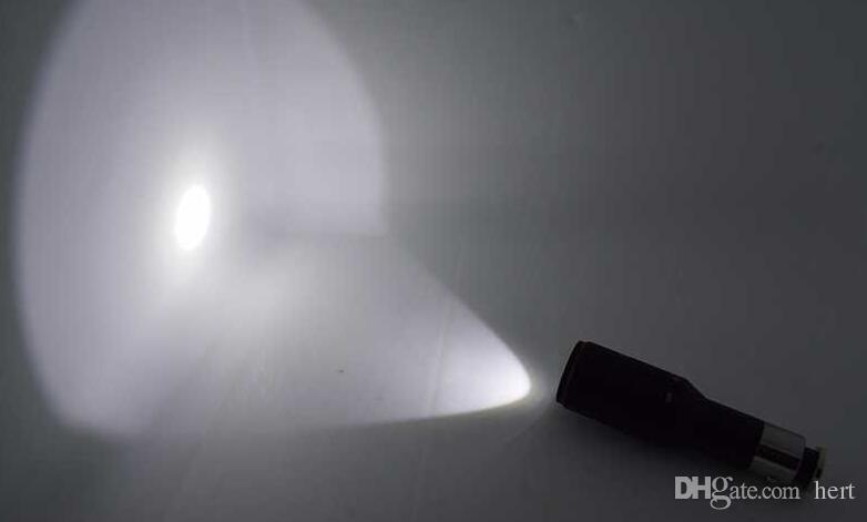 500 Lumens Cigarette lighter flashlight torch Q5 car light built in 1200mah rechargeable 16340 battery Mini Lamp lanterna tatical