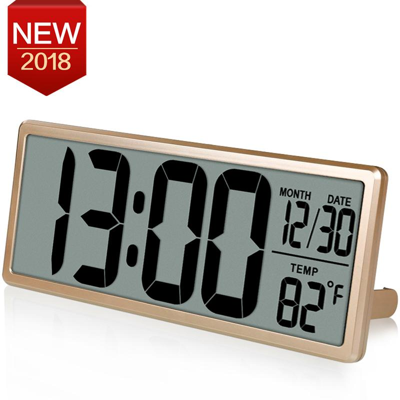 Digital office wall clocks digital Battery Operated 138 Large Digital Wall Clock Jumbo Desk Alarm Clock Oversize Lcd Display Multi Functional Upscale Office Decor Time Tool Decorative Wall Clocks For Dhgatecom 138 Large Digital Wall Clock Jumbo Desk Alarm Clock Oversize Lcd