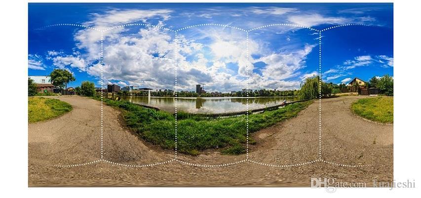 Câmera panorâmica de 360 graus 4K HD lente dupla transmissão ao ar livre ao vivo 720 câmera 3D móvel .DV câmera esporte finalidade especial.