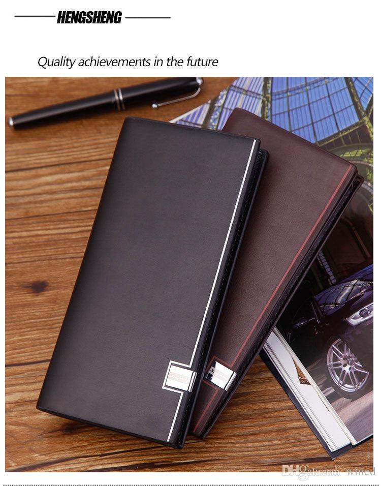 2018 Luxury MB Soft Leather Men's Business Black Classic Credit Card Holder Cover Cover Leather MT Travel Wallet Passport Thin Card Hol