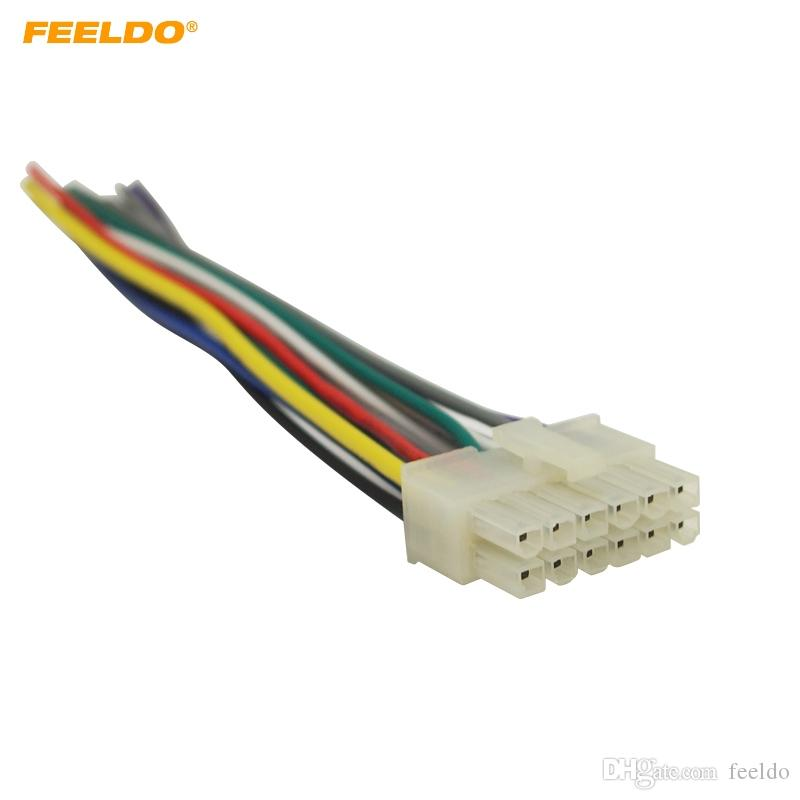 2019 FEELDO Universal 12Pin Car Wire Harness Adapter Connector Plug on car stereo alternators, car speaker, car fuse, 95 sc400 stereo harness, car stereo sleeve, car wiring supplies, leather dog harness, car stereo cover, car stereo with ipod integration,