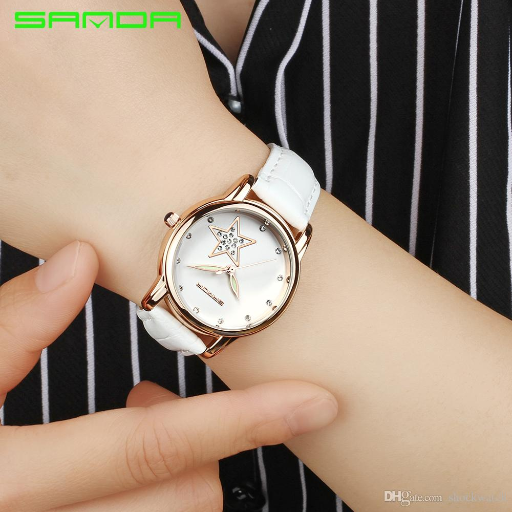 ed797a2ccb 2018 Sanda 200 Brand Popular Women Watches Red Ladies Girl Wristwatch  Fashion Casual Quartz Watch Best Gift For Girl