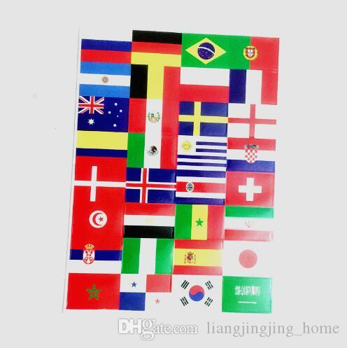 2018 Football World Cup 32 Countries Flag Stickers Face Sticker Waterproof  Reflective Stickers for Car Bicycle Laptop Face CCA8702 Flag Stickers Face  ...