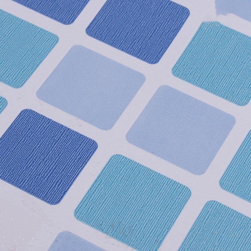 Waterproof Tiles Mosaic Wall Sticker Kitchen Bathroom Toilet Adhensive Anti Oil PVC Wallpaper Heat Resistance Wall Decor G25