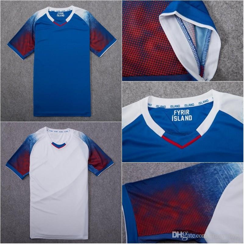 886e3d45a 2019 2018 World Cup Iceland Soccer Jersey 2018 Iceland Home Away Red Blue  White Football Shirts Size S XL From Tracycurry