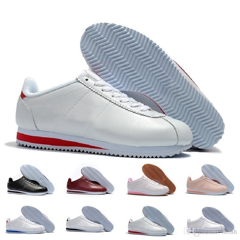 Compre Nuevo Classic Cortez Básico Zapatos Casuales Casuales Casuales De Cuero Barato a9e4dd