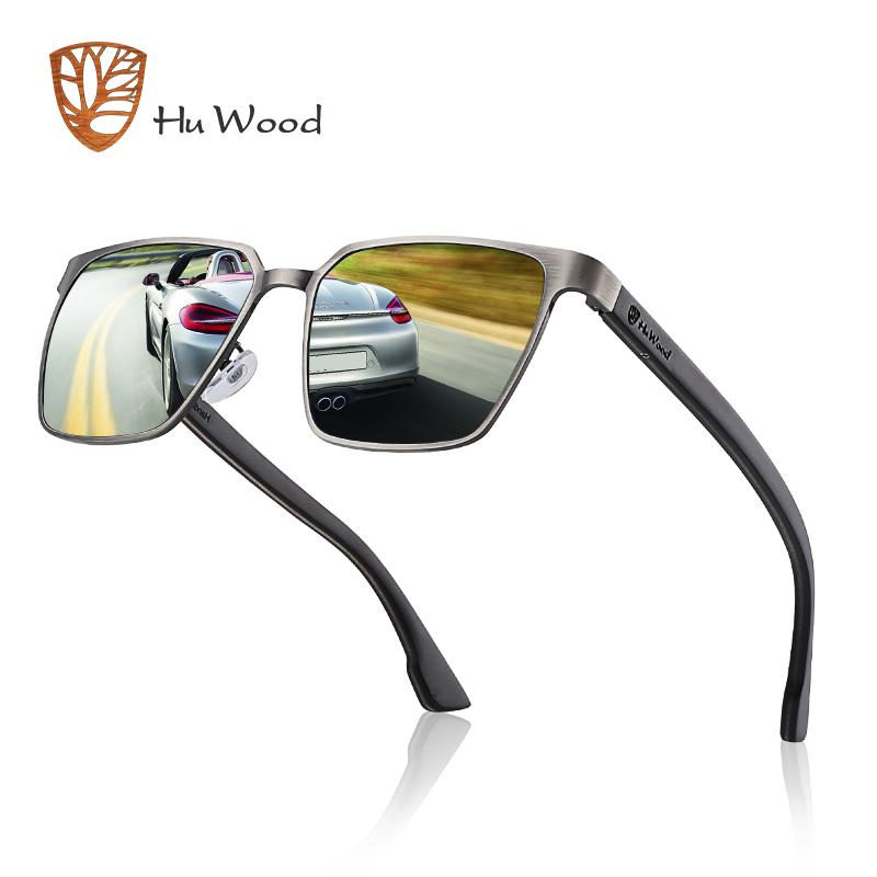 88f71cfaac Compre Gafas De Sol Con Marco Metálico HU WOOD Temple De Madera Con Lentes  Polarizadas Y es Y Gafas De Sol Para Hombre Mujer GR8037 A $26.16 Del  Trevorariza ...