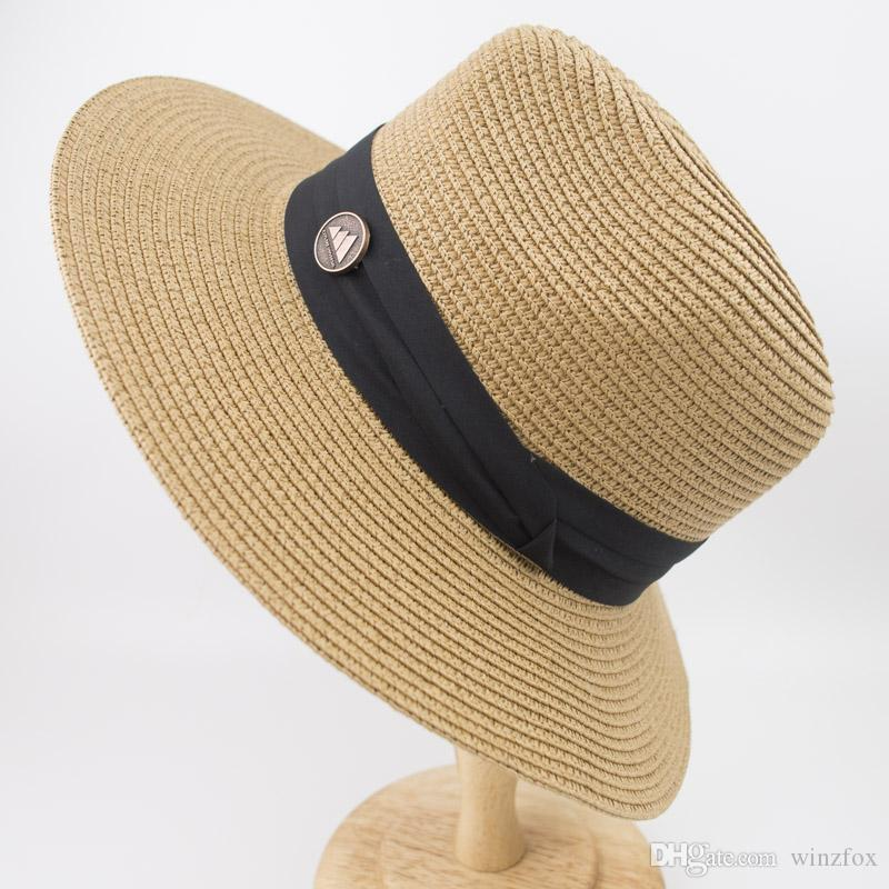 46527b4e760 EPU MH1834 Professional Hat Wholesaler 2018 New 100% Paper Straw Women S  Panama Hat Vintage Wide Brim Ladies Summer Beach Outdoor FashionHat Kangol  Hats ...