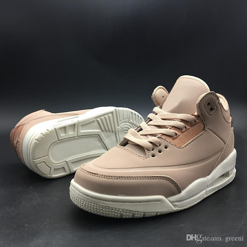 cheaper 020aa d2267 2018 New NRG JTH 3 SE Particle Beige Women Basketball Shoes 3s WMNS Rose  Gold Athletic Sport Sneakers AH7859-205