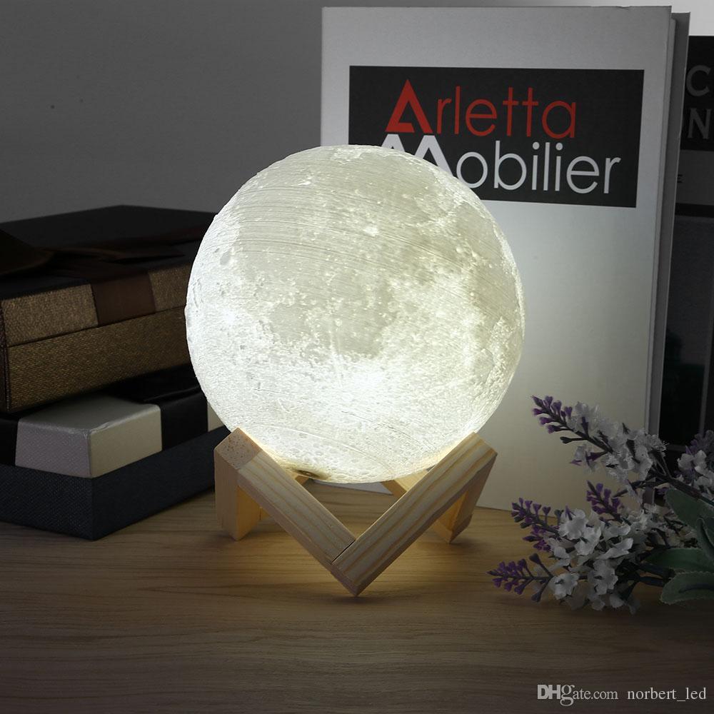 Moon Light USB Rechargeable 3D Print Moon