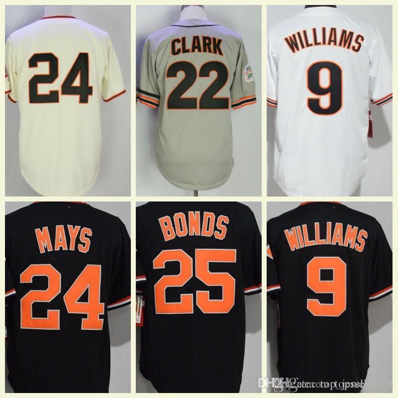 92127c7a 2019 2018 Mens Baseball 9 Matt Williams 22 Will Clark 25 Barry Bonds 24  Willie Mays Jerseys White Orange Black Cream From Top_jerseys168, $22.52    DHgate.