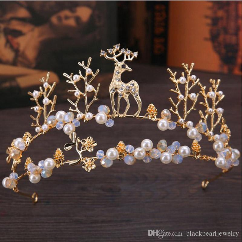 8 цветов элегантный красивый серебряный свадебные свадебные диадемы и короны женщины жемчужина невесты диадемы волос головной убор украшения