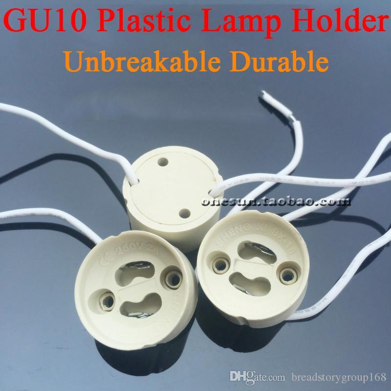 GU10 Bombillas de plástico Bombillas para luces LED Soportes de lámpara irrompibles Bases Durable Base de la lámpara Sostenedor