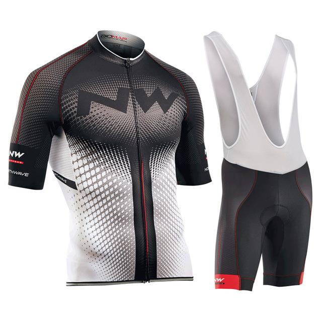 NW 2018 New Cycling Jersey Short Sleeve Summer Breathable Bib Shorts ... 759a519da