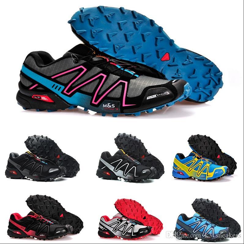 new styles 3bcd4 f5324 Acheter Designer Shoes Speedcross 3 CS III Jade Jaune Hommes Chaussures  Marche Ourdoor Zapatillas Crosspeed 3 Vitesses Cross Sport Athletic  Randonnée ...