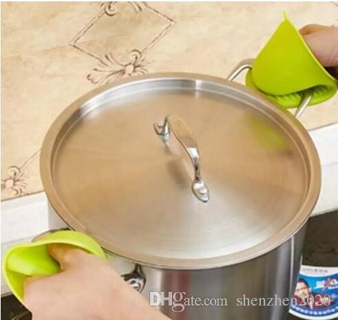 الميكروويف سيليكون قفاز دائم قفازات مقاومة للحرارة الفرن طوي العزل الحراري ميت ماء الطبخ قفاز عدم الانزلاق