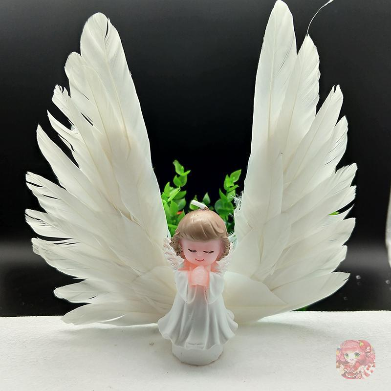 Beautiful Feather Birthday Cake Topper Decoration Wedding Party Favors with Angel Wing Swan Baking Accessories 2018 New Hot