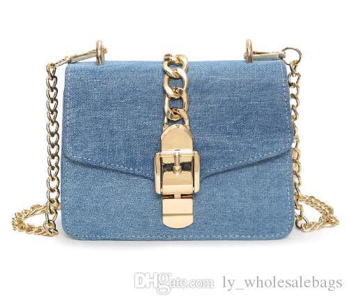 53a9e49521bb 2018 Luxury Designer Jeans Small Bags Women Denim Chain Crossbody Bags For Women  Women S Handbags Shoulder Bags Messenger Female Handbag Wholesale Hobo ...
