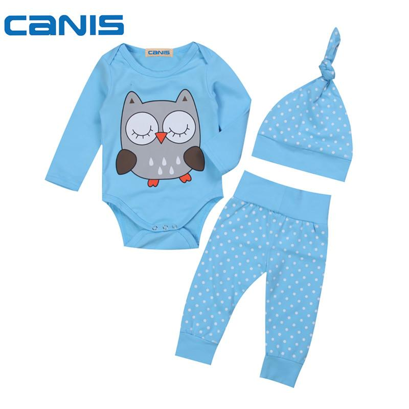 f8dedf825 Baby Kids Twins Matching Clothes Newborn Baby Boys Girl Tops Cartoon Romper  Pants Hat Outfits Clothes 3Pcs Set